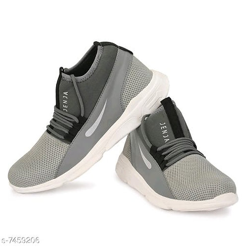concave fabric mesh sneakers
