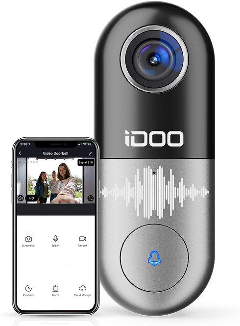 Video Doorbell 128GB 1080p HD Camera Chime,2-Way Audio Motion Detector