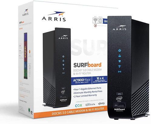 Arris SURFboard (16x4) Docsis 3.0 Cable Modem Plus AC1900 Dual Band Wi-Fi Router