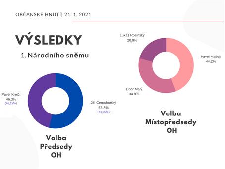 Výsledky hlasování 1. Národního sněmu