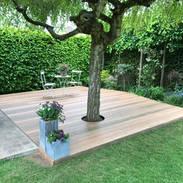 Terrasse en bois EXO autoportante sur plots réglables