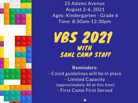 VBS 2021 August 2nd-6th!