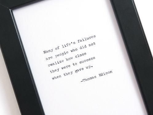 Thomas Edison Print
