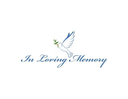 In Loving Memory Card (pk/10)