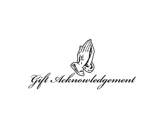 Gift Acknowledgement Card (pk/10)