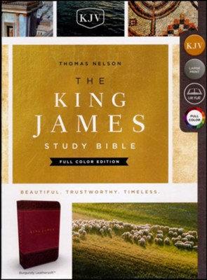 King James Study Bible / Burgundy / Indexed