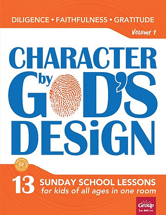 Character By God's Design (4 volumes to choose from)