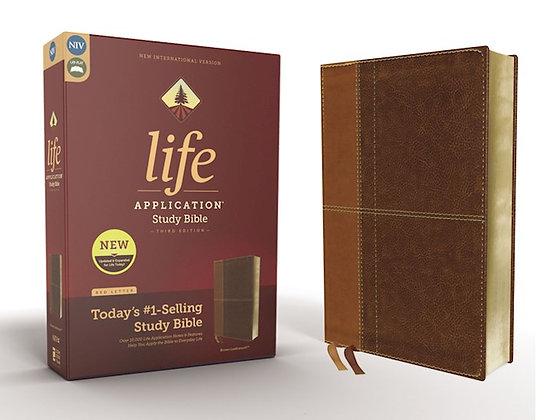 NIV Life Application Study Bible (3rd Ed.) Duotone Brown