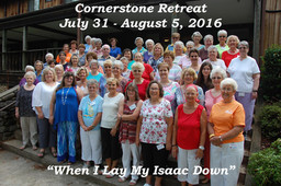 Cornerstone Retreat (July/August 2016)