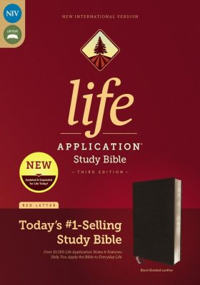 NIV Life Application Study Bible, Black Bonded Leather