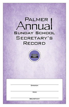 Palmer Sunday School Register & Record