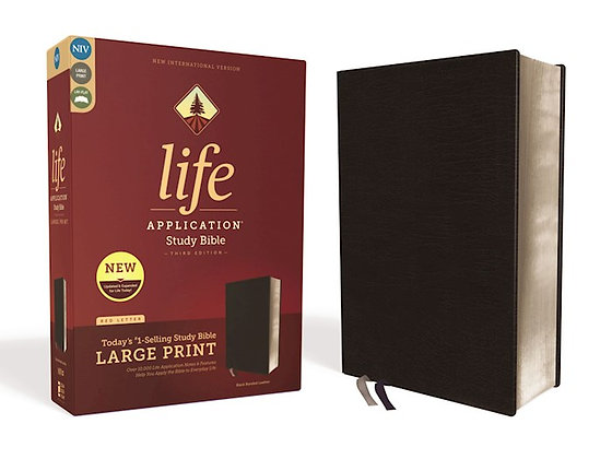 NIV Life Application Study Bible / Lg Print (3rd Ed.)-Black Bonded Leather
