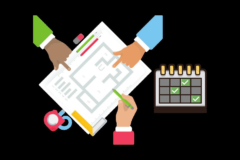 Cronograma e planejamento de obra