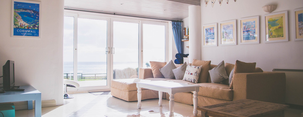 Sitting Room with view to sea