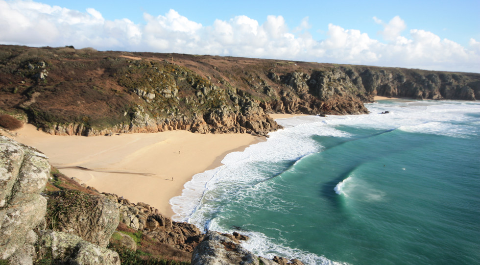 Porth curno (5 mins walk to here, 10 mins down to the beach from Driftwood)