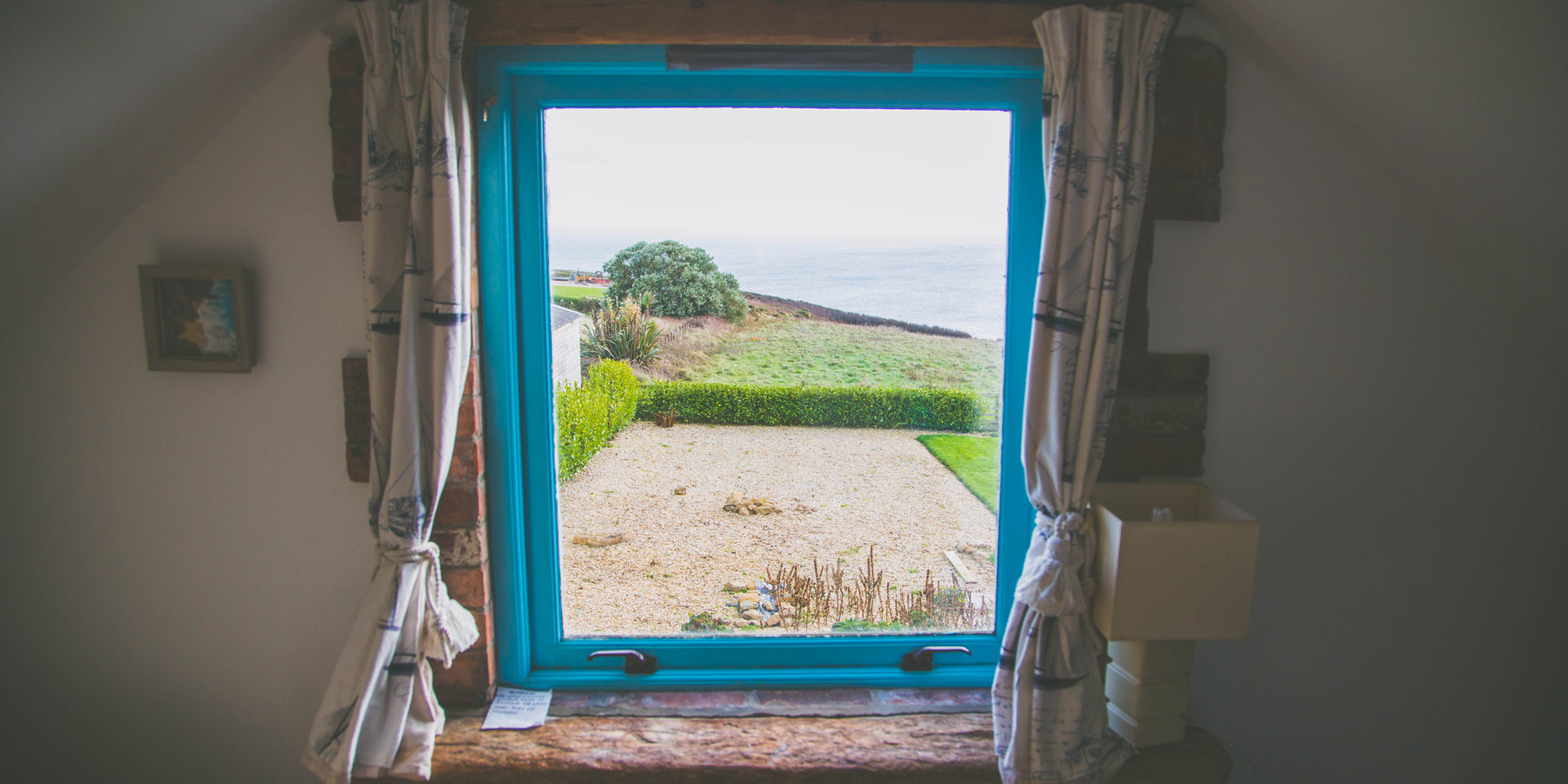 View of sea from sitting room