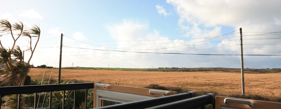 View towards Sennen from the balcony windows in the upstairs bedroom