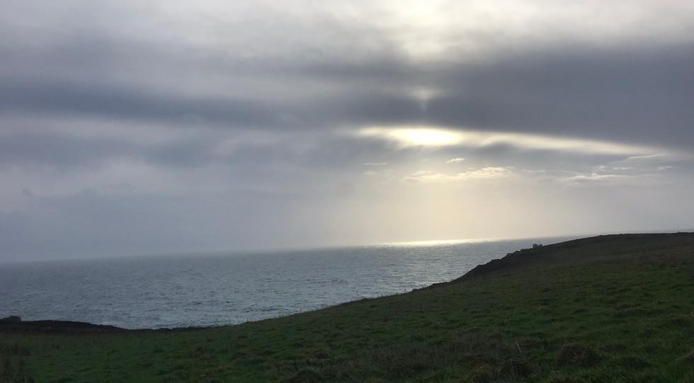 Rospletha Cliff mid winter