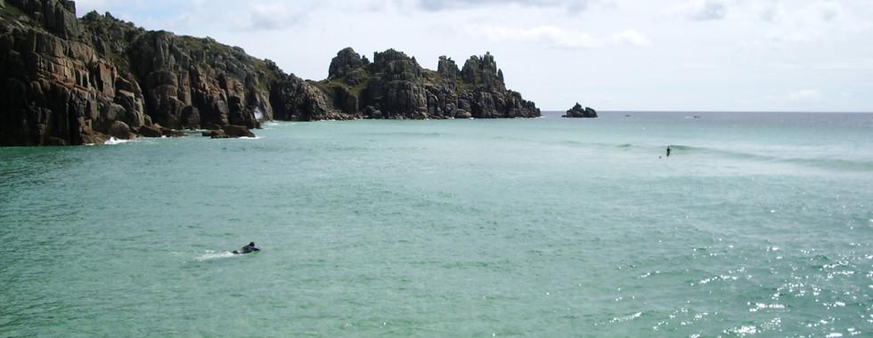 Pedny at medium tide