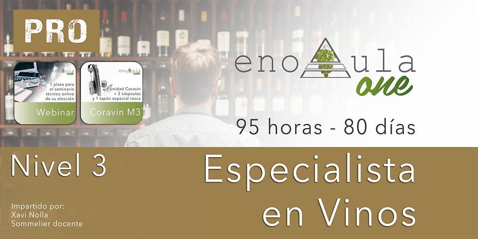 (FB) Curso Especialista en Vinos Niv.3 PRO