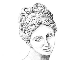 Greek Goddess 🌿⚜️ #gudinde #art #kunst