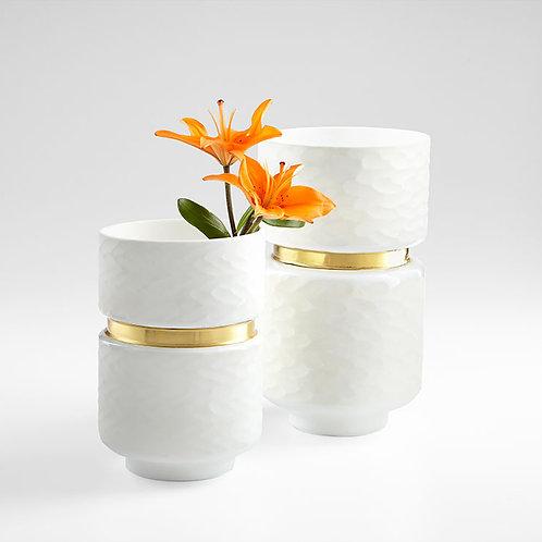 Monet White Vase