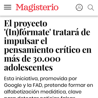 Proyecto (In)fórmate Magisterio