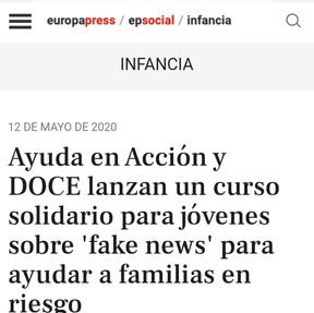 """Curso solidario """"Fake News"""" Europapress"""