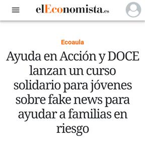 """Curso solidario """"Fake News"""" El Economista"""