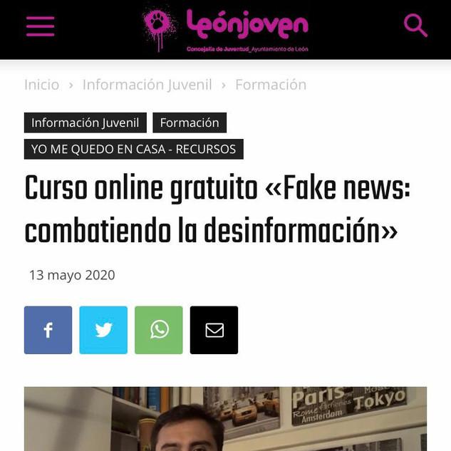 """Curso Online gratuito """"Fake News: compartiendo la desinformación"""""""