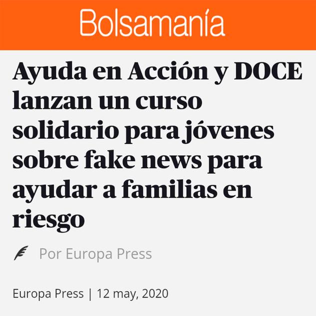 "Curso solidario ""Fake News"" Bolsamanía"