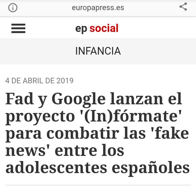Proyecto (In)fórmate Europapress