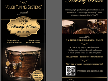 Rack card for NAMM Show