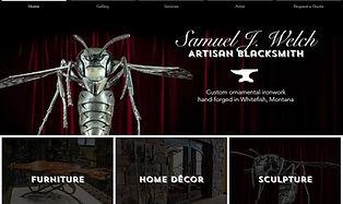 Samuel J Welch Artisan Blacksmith website home page 10.04.21.jpg