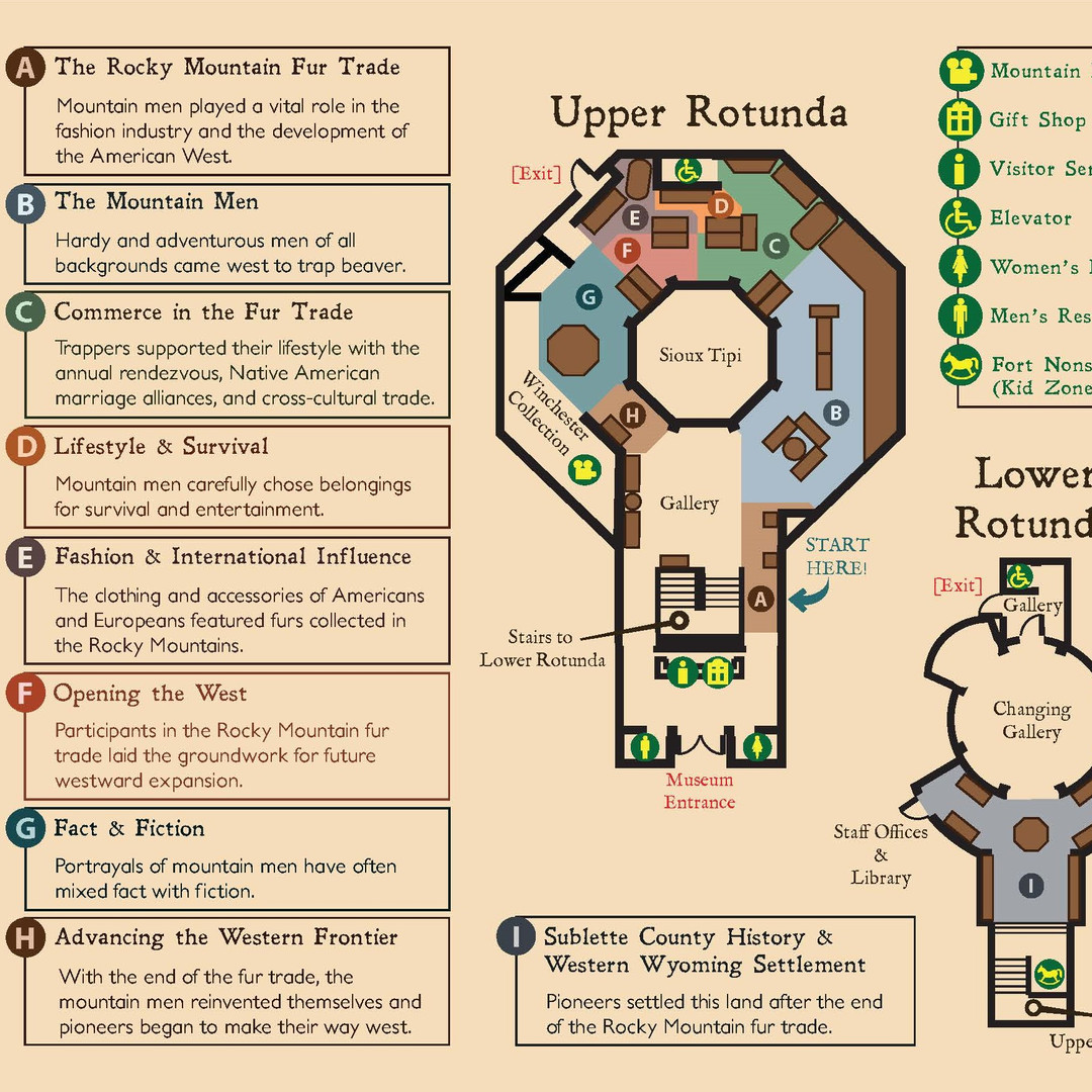 Museum Gallery Guide Map