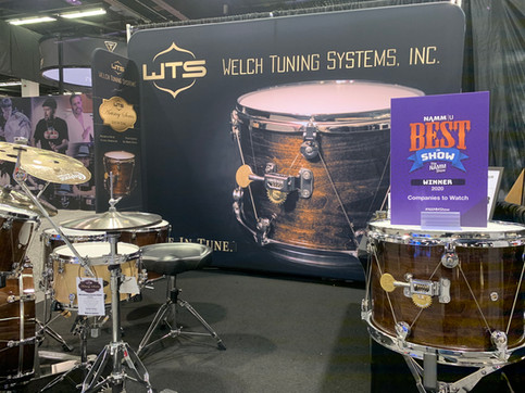 NAMM Show Award in Booth