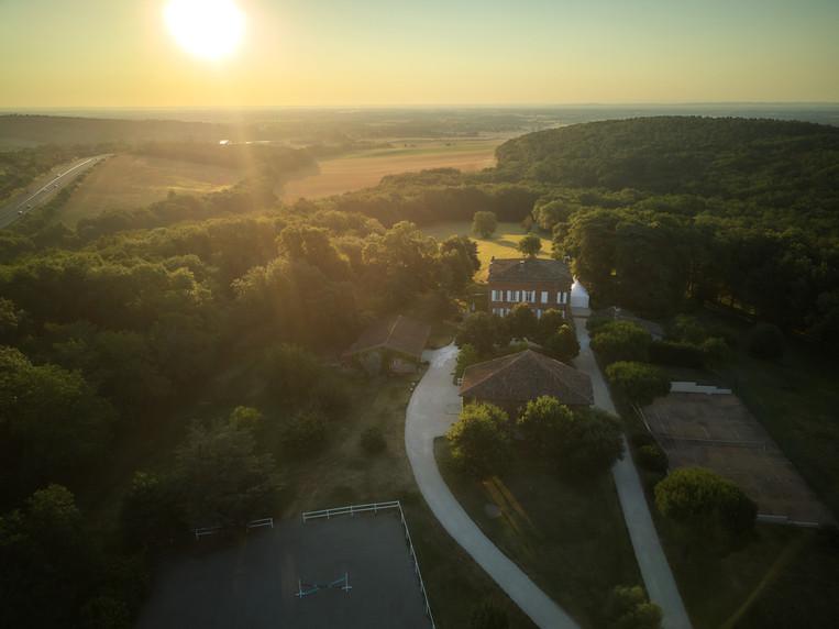 Chateau Lartus vue du ciel