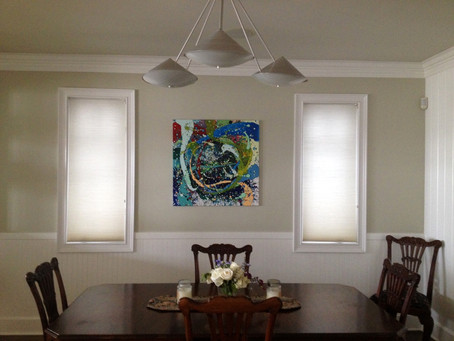 Sold painting in its new home…
