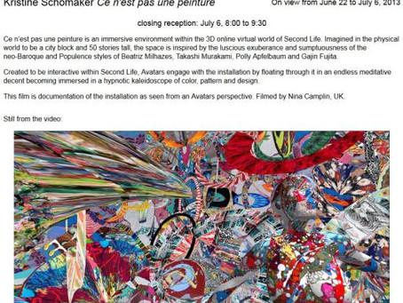 Closing reception of Ce n'est pas une peinture at TRACTIONARTS in DTLA!!