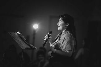 Grace singing (black and white).jpeg