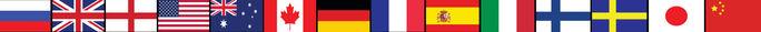 Флаги стран языков, преподаваемых в Школе Нью Форвард