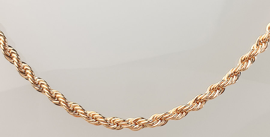 Colar corrente cordão baiano folheado em Ouro 18k