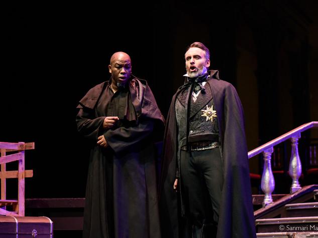 Christiaan as Scarpia in Tosca, 2017