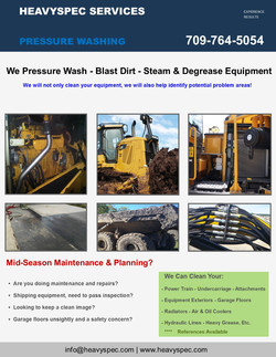 Steam Cleaning and Degreasing -Maintanance & Planning