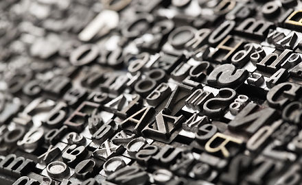 Old typewriter letters