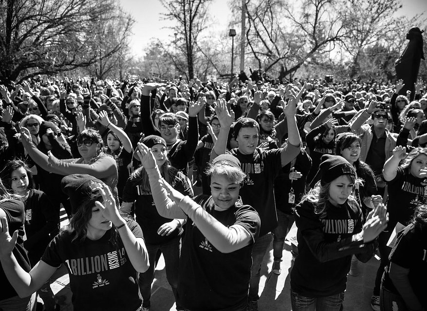 billion rising crowd bw.jpg