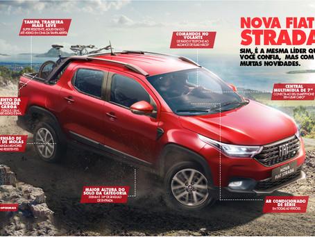 Fiat lança Nova Strada e reinventa, mais uma vez, o segmento de picapes no Brasil