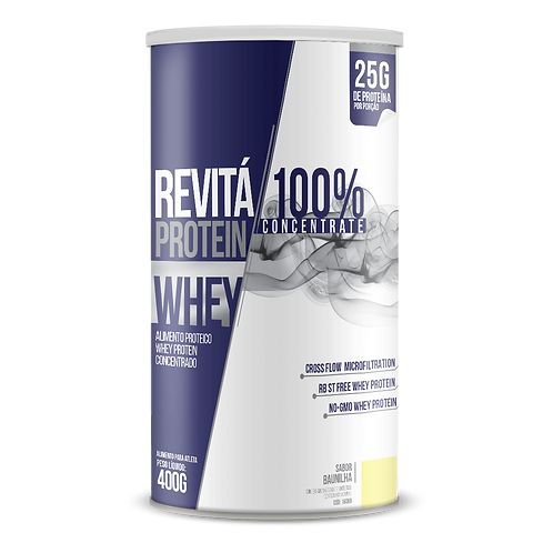 Whey Revitá 100% Concentrate / Peso líq.: 400g