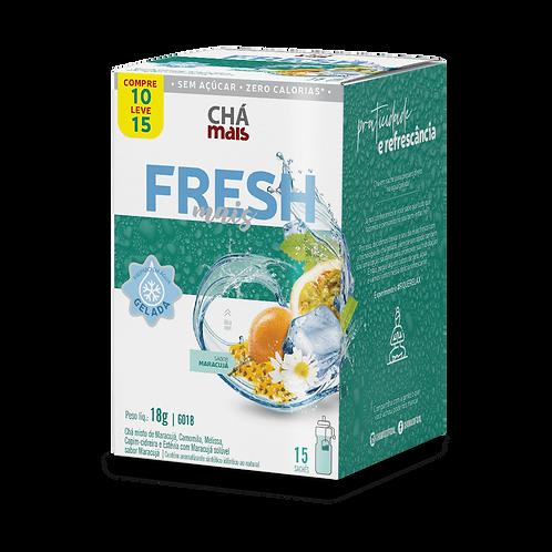 FreshMais   Chá Gelado   Sabor Maracujá   15 sachês   18g
