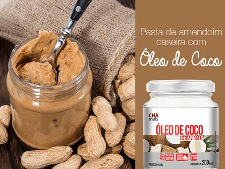 Pasta de amendoim caseira com Óleo de coco ClinicMais